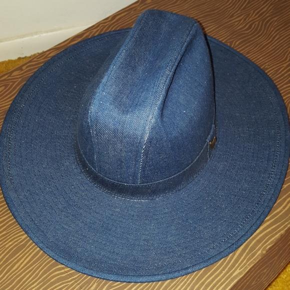 be7d08c5fc900 VINTAGE RUSTLER STETSON DENIM WOMEN WESTERN HAT